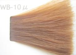 14レベルのカラー毛束にWb-10uを塗布する結果