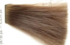 14レベルにカラー毛束にアッシュA-8u2対、Clr1を塗布