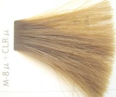 Mat Color を毛束14レベルに塗布、 M-8u 2対、Crl u 1のカラー剤使用